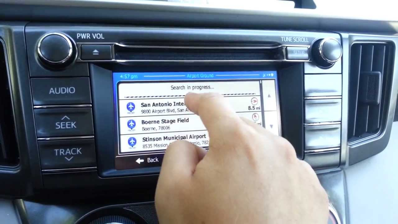 Updating toyota navigation system