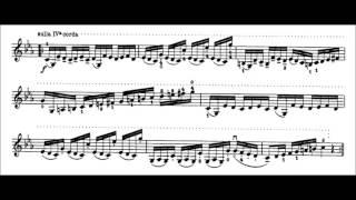 Niccolò Paganini - Caprice for Solo Violin, Op. 1 No. 19 (Sheet Music)