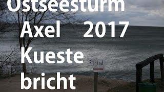 2017 01 04 Ostsee Sturmflut Axel Teil2 der Strand verschwindet