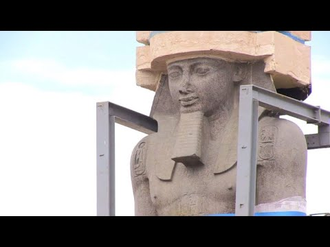 Egypt shifts famed Ramses II statue into place at new museum