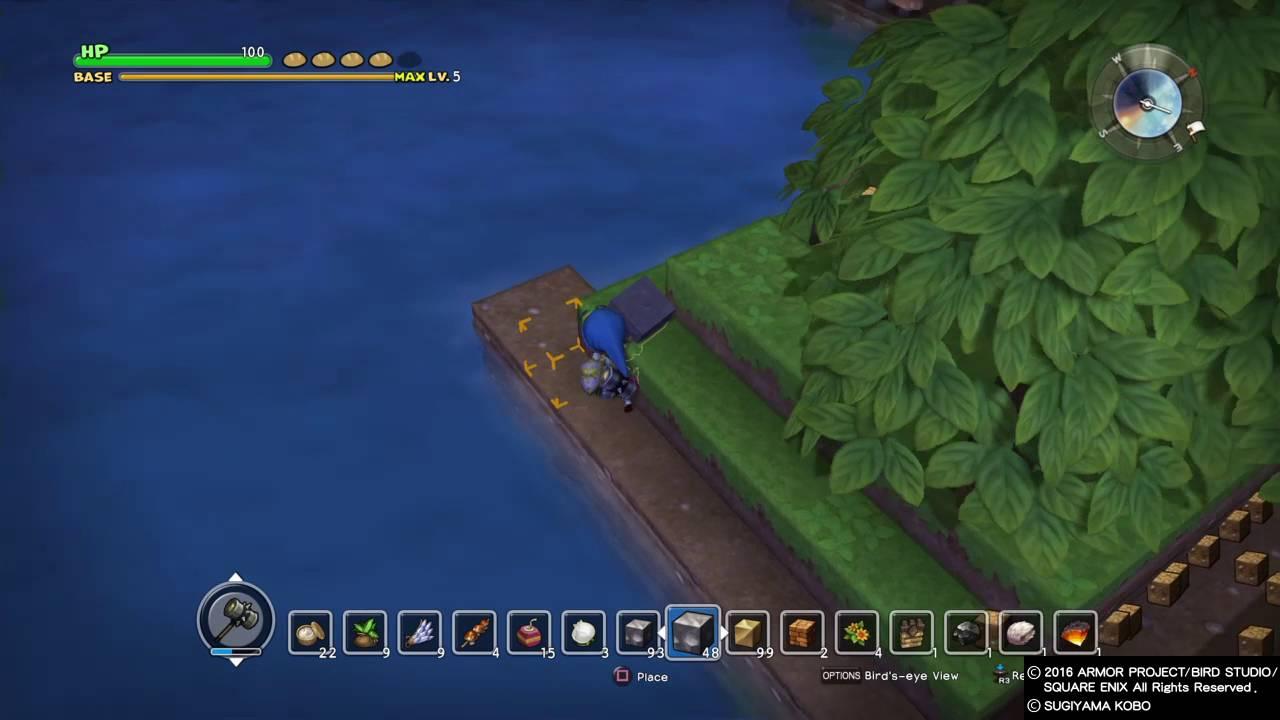 Dragon Quest Builders Cantlin Building A Cantlin Garden Pt1 Youtube