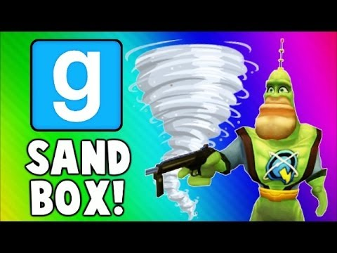 Gmod Sandbox Funny Moments TORNADO Edition - House Destructi
