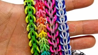 Repeat youtube video How to Make a Rainbow Loom Tribal Fishtail Bracelet - EASY