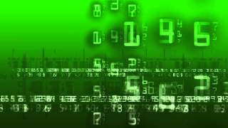 Matrix Numbers Greenscreen - Free Overlay Stock Footage