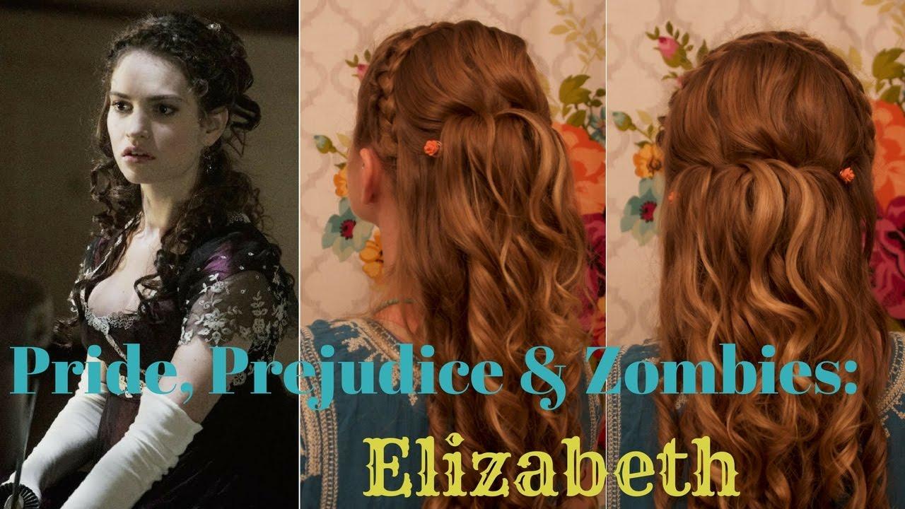 pride, prejudice & zombies inspired hair: elizabeth - youtube