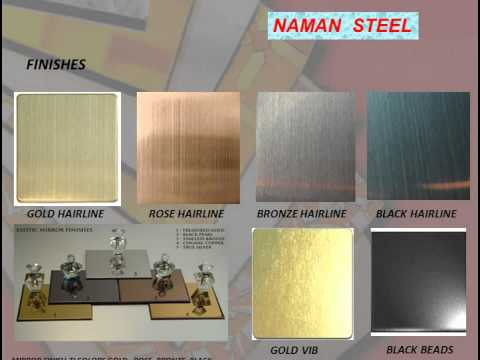 ti color stainless steel sheets in different metal colors., coloring