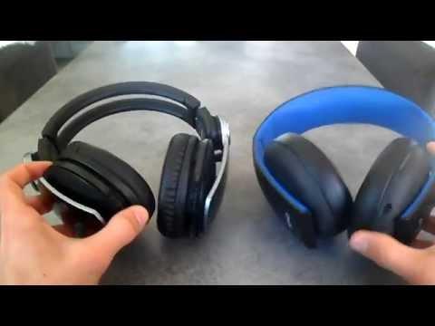 COMPARATIF casques Ps3 Pulse vs Playstation stéréo headset 2.0 Fr HD
