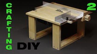 DIY. Делаем мини циркулярный станок. Mini saw table. Часть 2. Каретка и параллельный упор