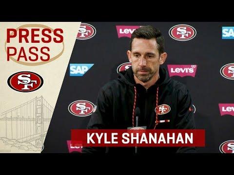 Kyle Shanahan Recaps Seahawks Rivalry & George Kittle's Performance | San Francisco 49ers