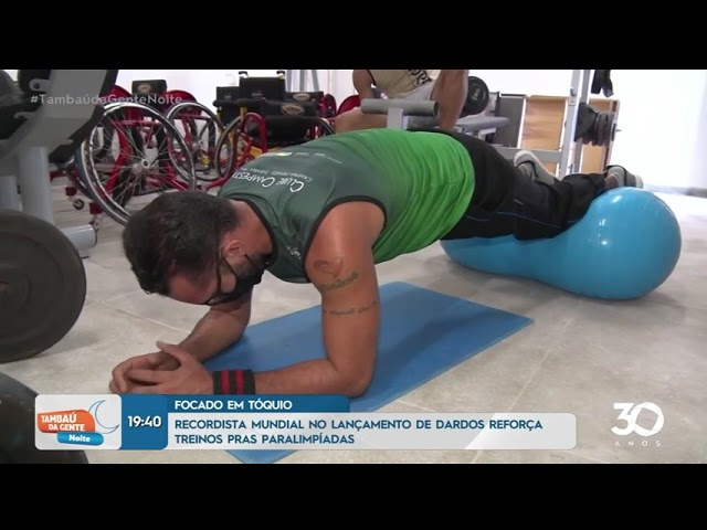 Recordista mundial no lançamento de dardos reforça treinos para as paraolimpíadas - Tambaú da Gente