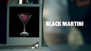 Black Martini Drink Recipe - How To Mix