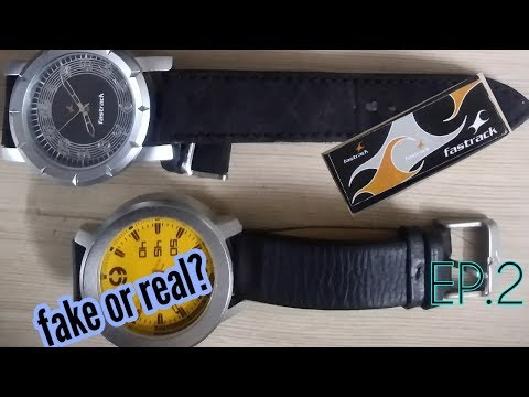 How to spot a fake Fastrack Watch Fake VS Real? Off Car First episode 2