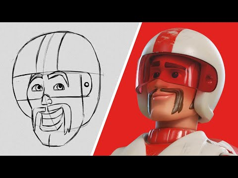 How to Draw Duke Caboom from Toy Story 4   Draw With Pixar