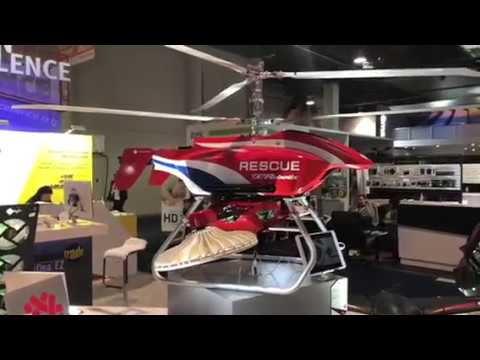 Thunder Tiger Rescue Drone By Thermo Tech At CES 2018 #CES2018