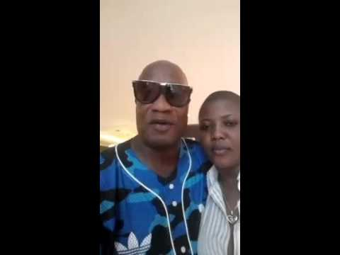 Koffi Olomide and Cindy Le Coeur‬ sing Happy Birthday to Samuel Eto'o
