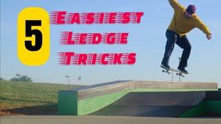 5 easy Skateboard tricks on a ledge