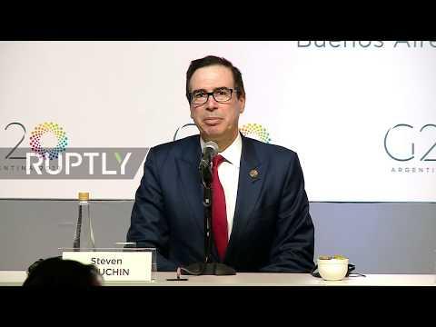 Argentina: Washington 'not afraid of trade war' - US Treasury Sec. Mnuchin at G20