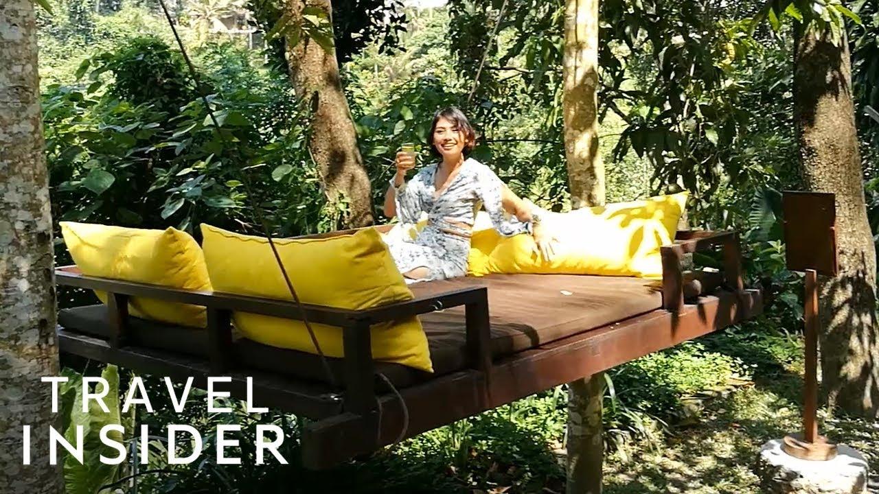 Sleep In A Swinging Outdoor Bed Bali
