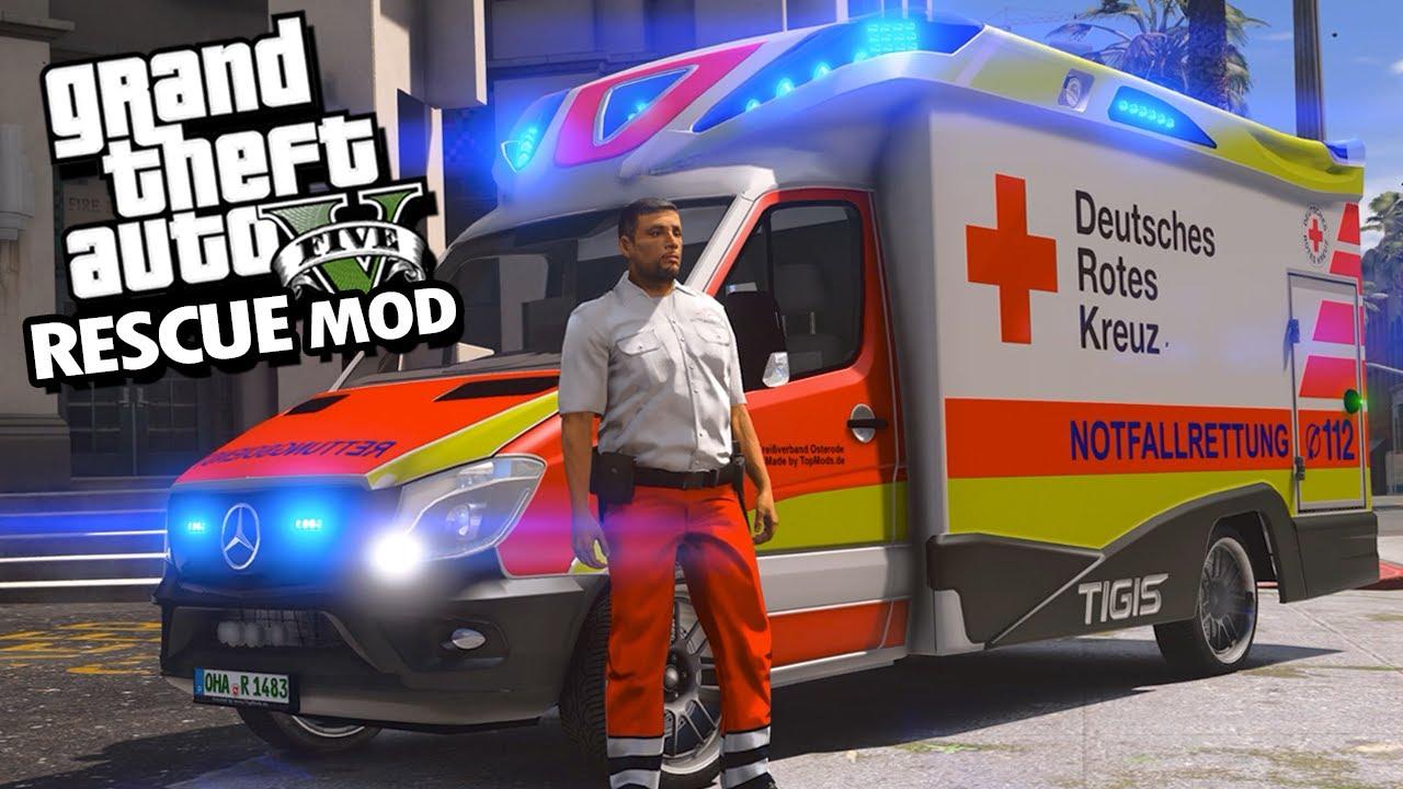 GTA 5 RESCUE MOD #07 | Rettungsdienst MOD  - Deutsch - Grand Theft Auto 5 RESCUE MOD
