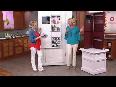 Over the Door Beauty Organizer Armoire with Mirror on QVC