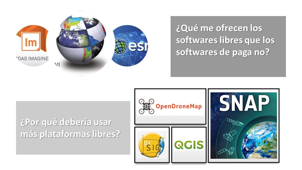 ¿Por qué deberíamos usar softwares libres? qGis, Open Drone Map, gvSIG, SNAP, etc.