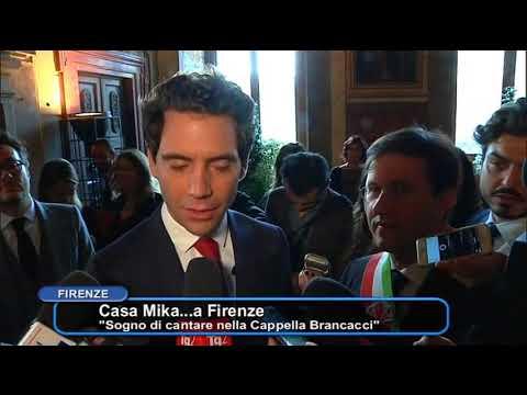 Firenze- Le chiavi della citta' al cantante Mika