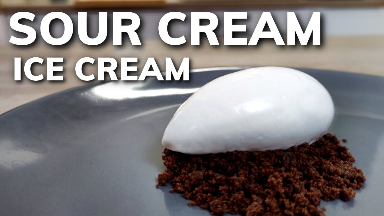 How to make SOUR CREAM ICE CREAM at home   Michelin Star Recipe