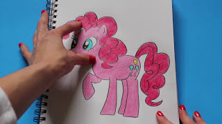 How to Draw My Little Pony PINKIE PIE Character Step By Step Easy Equestria MLP | Toy Caboodle