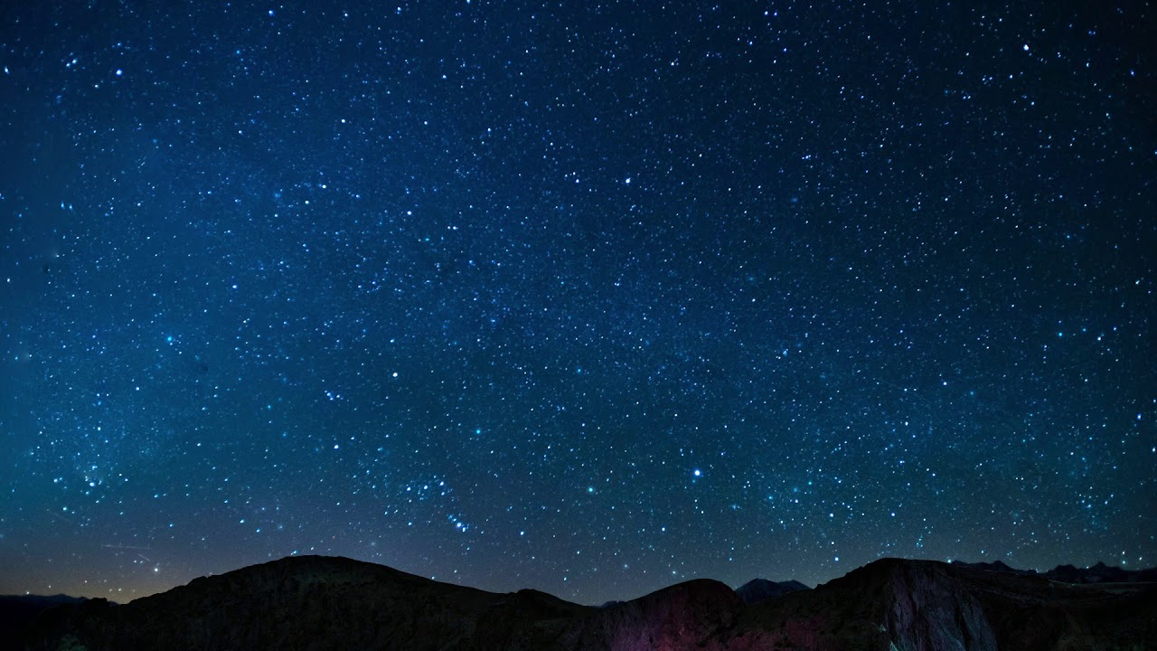 Night Sky Stars Falling Animated Video Background