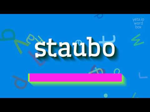"""How to say """"staubo""""! (High Quality Voices)"""