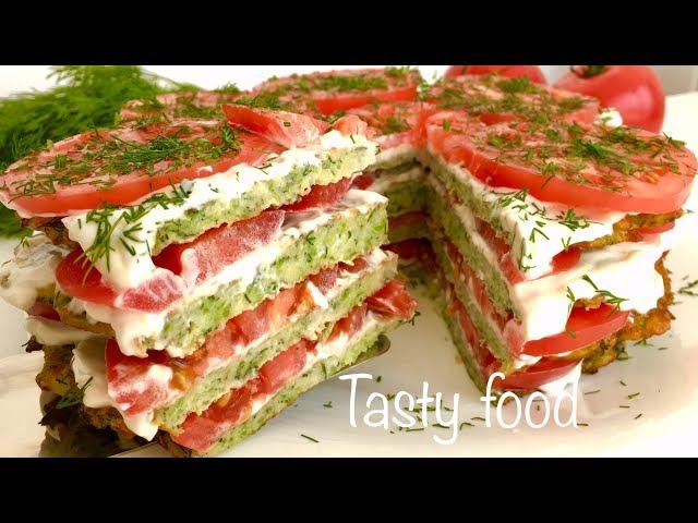 Изображение Вкуснейший Торт из Кабачков! Обалденная Закуска из Кабачков!