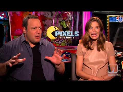 PIXELS Kevin James & Michelle Monaghan Interview