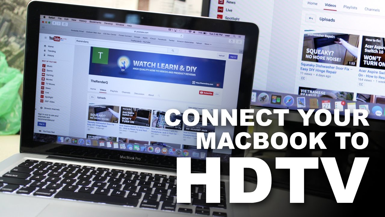 Connect macbook to tv without hdmi