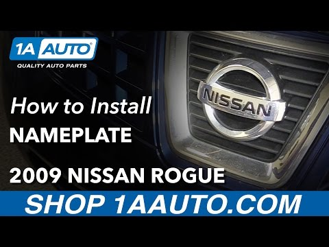 How to Replace Front Emblem 07-13 Nissan Rogue
