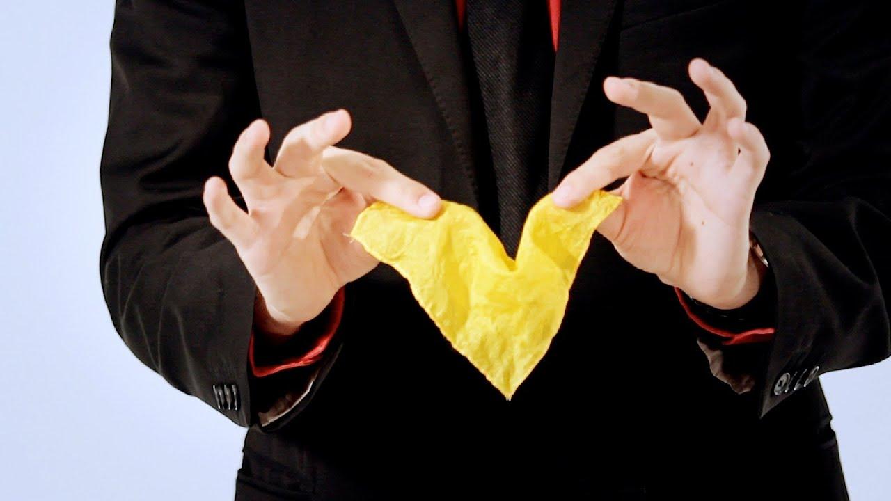 Disappearing Handkerchief Trick Magic Card Flourishes Youtube 1 Box Tissue