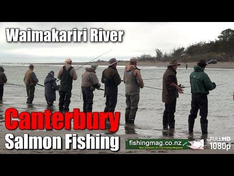 Salmon Fishing In The Lower Waimakariri River
