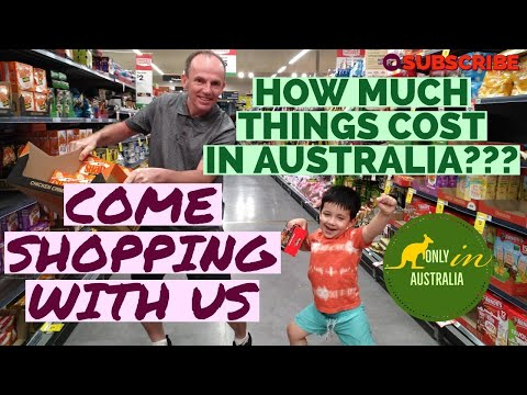 GROCERY SHOPPING IN AUSTRALIA   PRICES IN AUSTRALIA   WOOLWORTHS AUSTRALIA  LIVING COST IN AUSTRALIA