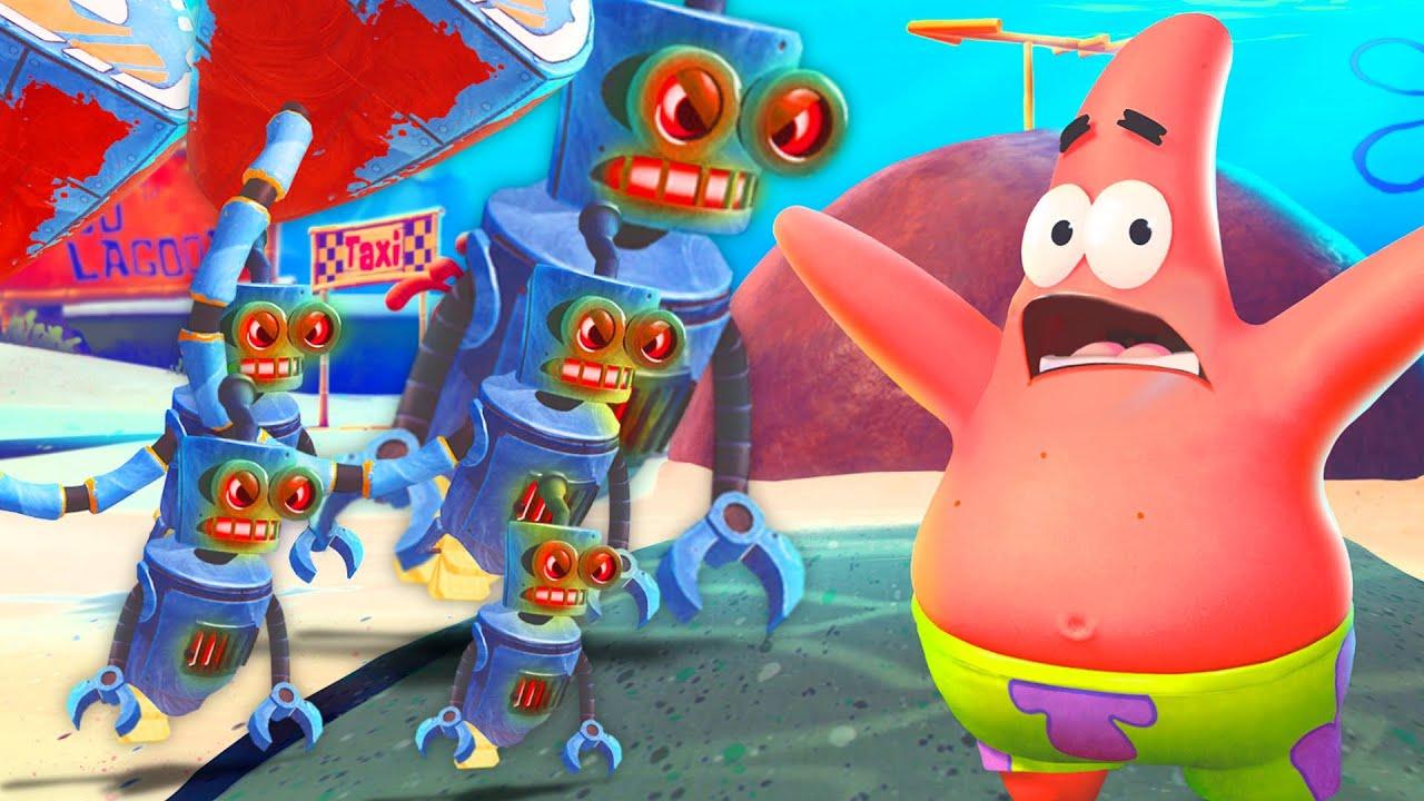 RESCATAMOS A PATRICIO DE LOS ROBOTS.EXE 😰😱 SpongeBob SquarePants: Battle for Bikini Bottom #2