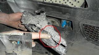 Восстановление трещин и креплений на бампере . Ssang Yong Kyron(В этом видео расскажу о трещинах бампера получившие при ДТП, покажу как их