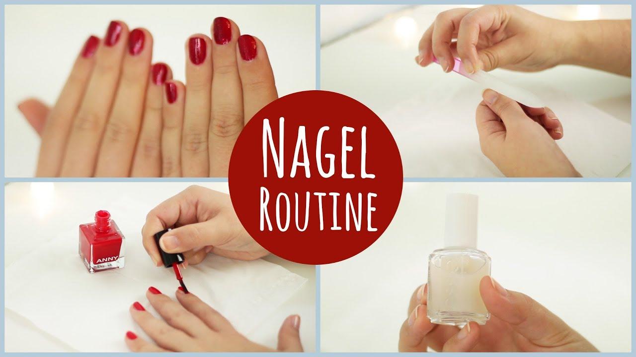 Natu00fcrlich Schu00f6ne Nu00e4gel In 5 Schritten L Nagel-Routine - YouTube