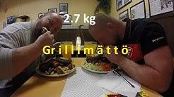"""Grilli kivelä 2.7 kg """"NIGHTMARE"""" ruokahaaste ja 1.5 l limua vs ElMacho Gimbutas & Monsteri"""