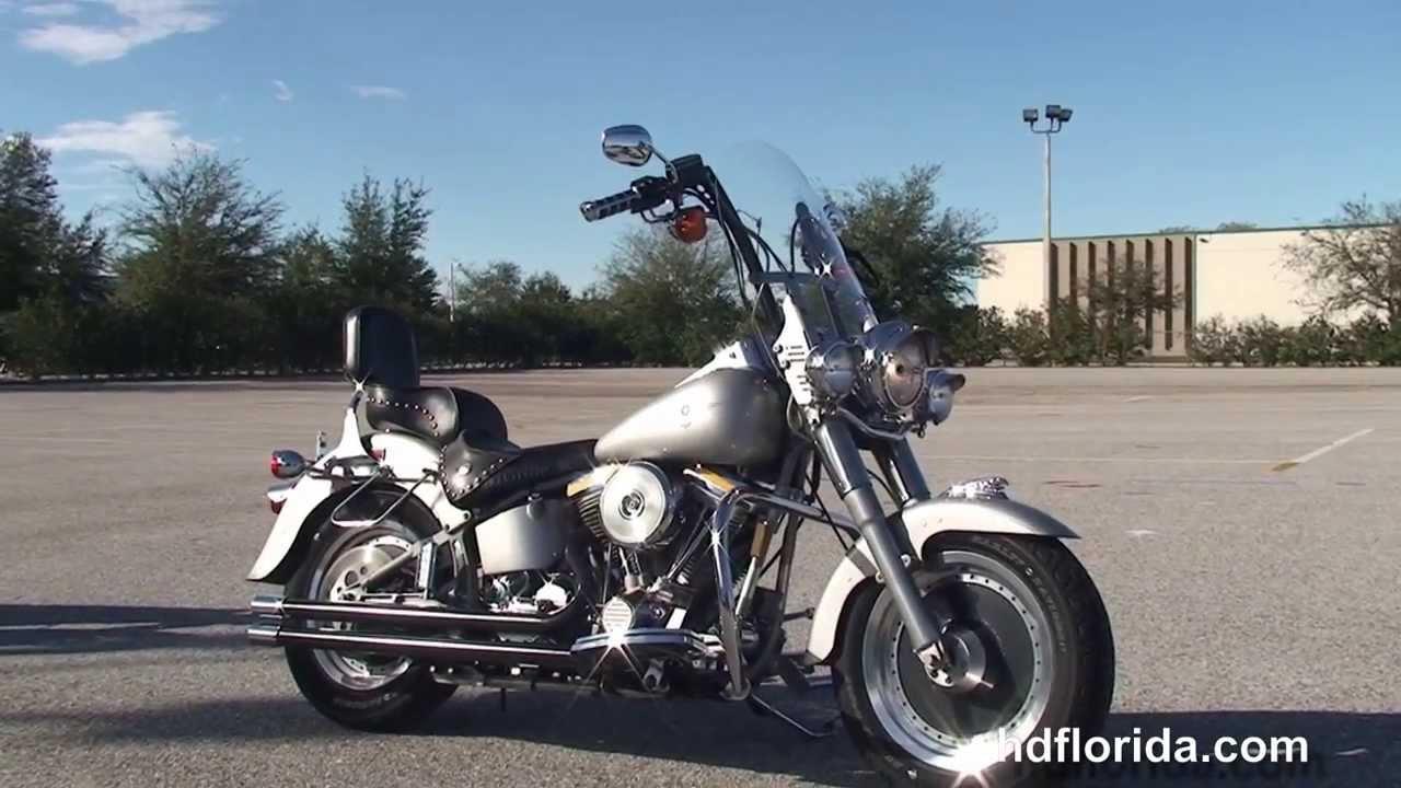 used 1990 harley davidson fatboy motorcycle for sale youtube. Black Bedroom Furniture Sets. Home Design Ideas