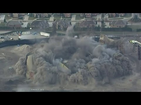 DTE Energy implodes old power plant