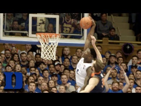 Zion Williamson's Dunk On Virginia In Super Slomo   What You Missed