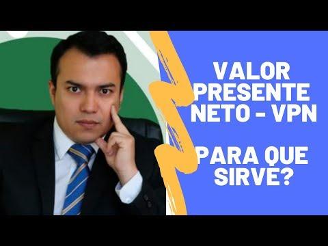 Para que sirve el VPN - Valor Presente Neto
