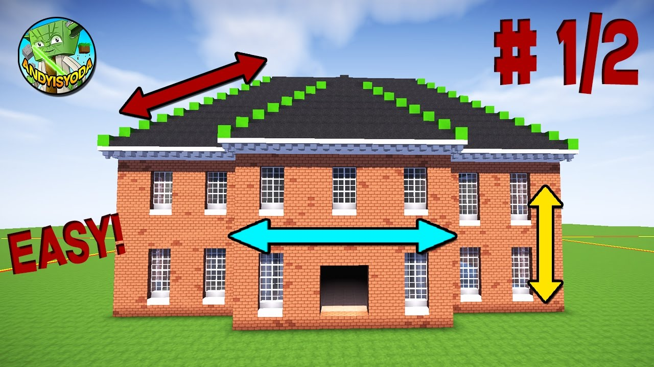 Minecraft Creative Tips Tricks: Minecraft Georgian House Tutorial #1/2