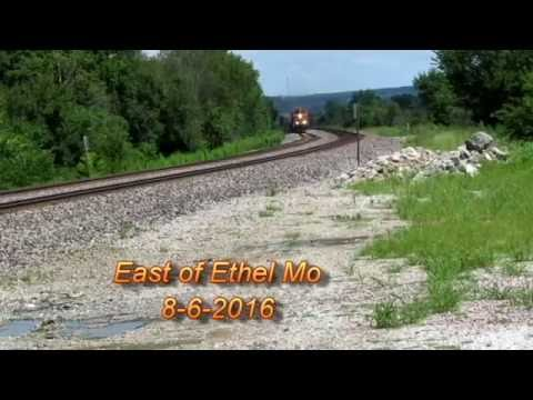 BNSF   UP East of Ethel Mo Marceline Subdivision 8/6/2016