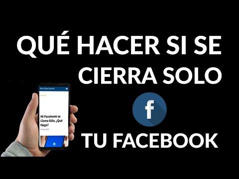 Facebook se Cierra Sólo | Solución