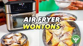 Air Fryer Wontons with Sweet Potato