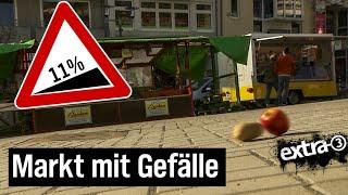 Realer Irrsinn: Schräger Marktplatz in Bergisch-Gladbach